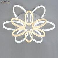 Современный творческий потолочный светильник Овальный Цветок Блеск светодиодный светильников потолочный светильник для Гостиная рестора