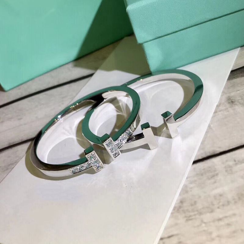 Brand Fashion Party Jewelry For Women Men Unisex Big Letter T Bangle Cuff Jewelry Fashion Party