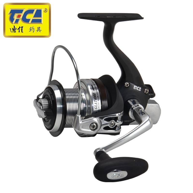 TICA 7BB + 1RB Getriebe Verhältnis 5,2: 1 Spinning Angeln Reel Kleine Distant Rad mit Austauschbare Griff Leistung Bass Karpfen Angeln Tackles
