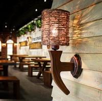 동남 아시아 수제 자연 등나무 예술 벽 램프 향수 디자인 나무 예술 e27 led 램프 계단 & 카페 & 현관 & 통로 ldk028
