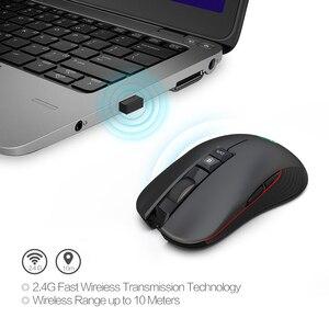 Image 4 - USB 3.0 TYPE C 2.4 GHz kablosuz Oyun Fare Dahili şarj edilebilir pil ayarlanabilir 3600 DPI Optik Dilsiz fare Dizüstü Bilgisayar için