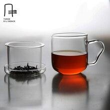 Obst Tee Glas Tasse Hitzebeständige Klarglas Teetassen mit Sieb Filter Pflanzliche Blumen Tee Becher Wärmedämmung Wasser tassen