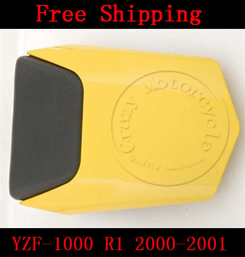 For Yamaha YZF 1000 R1 2000-2001 motorbike seat cover Motorcycle Yellow fairing rear sear cowl cover Free Shipping for yamaha yzf 600 r6 2006 2007 motorbike seat cover high quality motorcycle black fairing rear sear cowl cover
