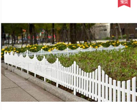 Free Shipping 5pcs Lot 60 33cm Inserting Ground White Plastic Fence Pet Fence Rustic Decoration Christmas