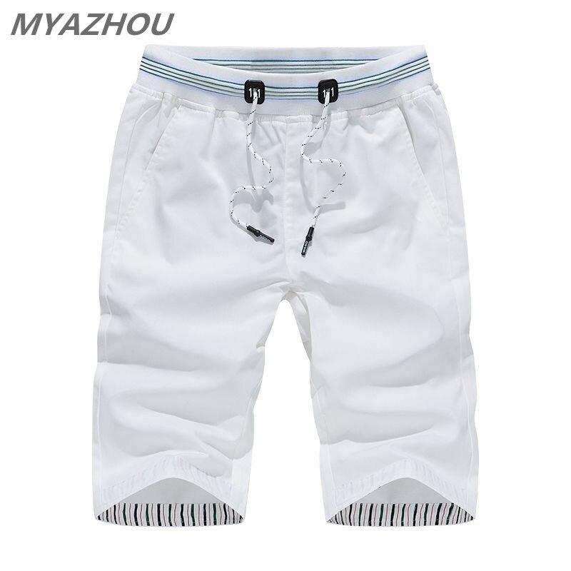0a37ebef4a38 MYAZHOU 5XL pantalones cortos informales de verano para hombre 2019 de  Color sólido cintura ...