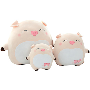 25/40/60cm Cute Fat Pig Plush Toy Stuffed Soft Kawaii Animal Cartoon Pillow Lovely Toys For Kids Baby Children Birthday Gifts stuffed toy