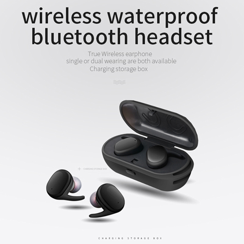 Sago s9100 mini earbuds wireless bluetooth headset IPX5 waterproof headphone with Mic for iphone x /xiaomi android phones qcy sets q26 mini business headset car calling wireless headphone bluetooth earphone with mic for iphone 5 6 7 android