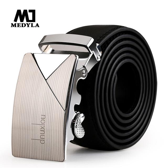 Moda 2017 diseñador masculino hebilla automática cinturón de correa de cuero para los hombres auténticos de tendencia hombres faja ceinture cinto masculino