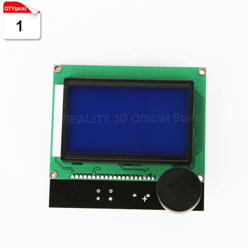 1Pcs CREALITY 3D printer Parts controller RAMPS 1 4 LCD 12864 control panel blue screen For