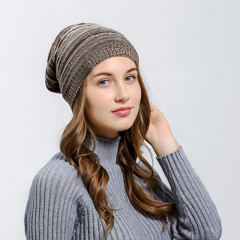 Women's Winter Hat Unisex Knitted Wool Beanie Female Fashion Skullies Casual Outdoor Ski Caps Thick Warm Fashion Street Hats fibonacci winter hat knitted wool beanies skullies casual outdoor ski caps high quality thick solid warm hats for women