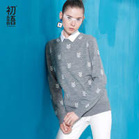 Toyouth 2016 New Arrival Women Acrylic Pullovers Sweaters Autumn Geometric Printed Casual Sweaters
