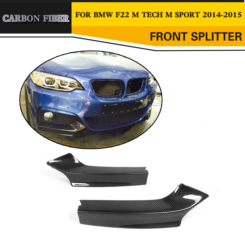 Carbon Racing front Splitters Lips for BMW M235i M240i F22 M Sport Coupe Convertible 2014-2017