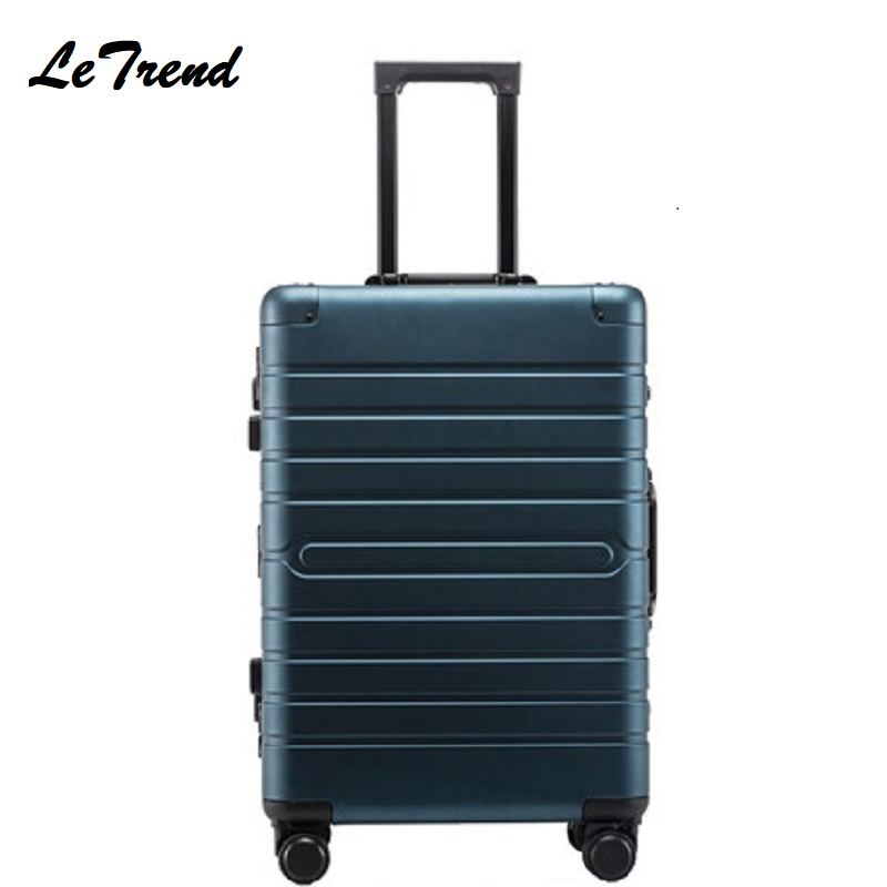 20 24 28 Inch Waterproof Rolling Luggage 100% Aluminium Trolley Solid Travel Bag 20' Women Boarding Bag Carry On Suitcases Trunk