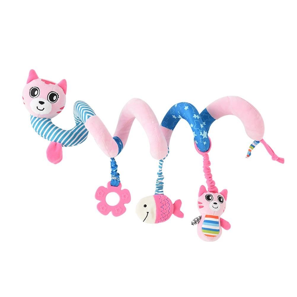 1pc Baby Wrap Around Spiral Hanging Rattles Toy Stroller Toy Crib Pram Car For Baby Boy Toddlers Newborn Cat