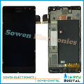 Para nokia lumia 730 735 screen display lcd com touch screen digitador com a montagem do quadro conjuntos completos, preto
