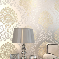 White Modern Damask 2014 Hot Sales Designs Papel De Parede For Europe Classic Decorative Wallpaper