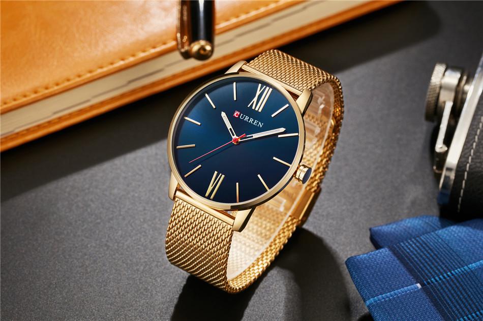 HTB1Gpo5RXXXXXXVXFXXq6xXFXXX1 - CURREN Luxury Stainless Steel Business Watch for Men