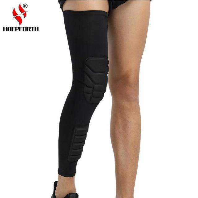 c2bd346d53 Compression Leg Sleeve Anti-Crash Pads Knee Support Calf Brace Sports  Protection Basketball Football Leg
