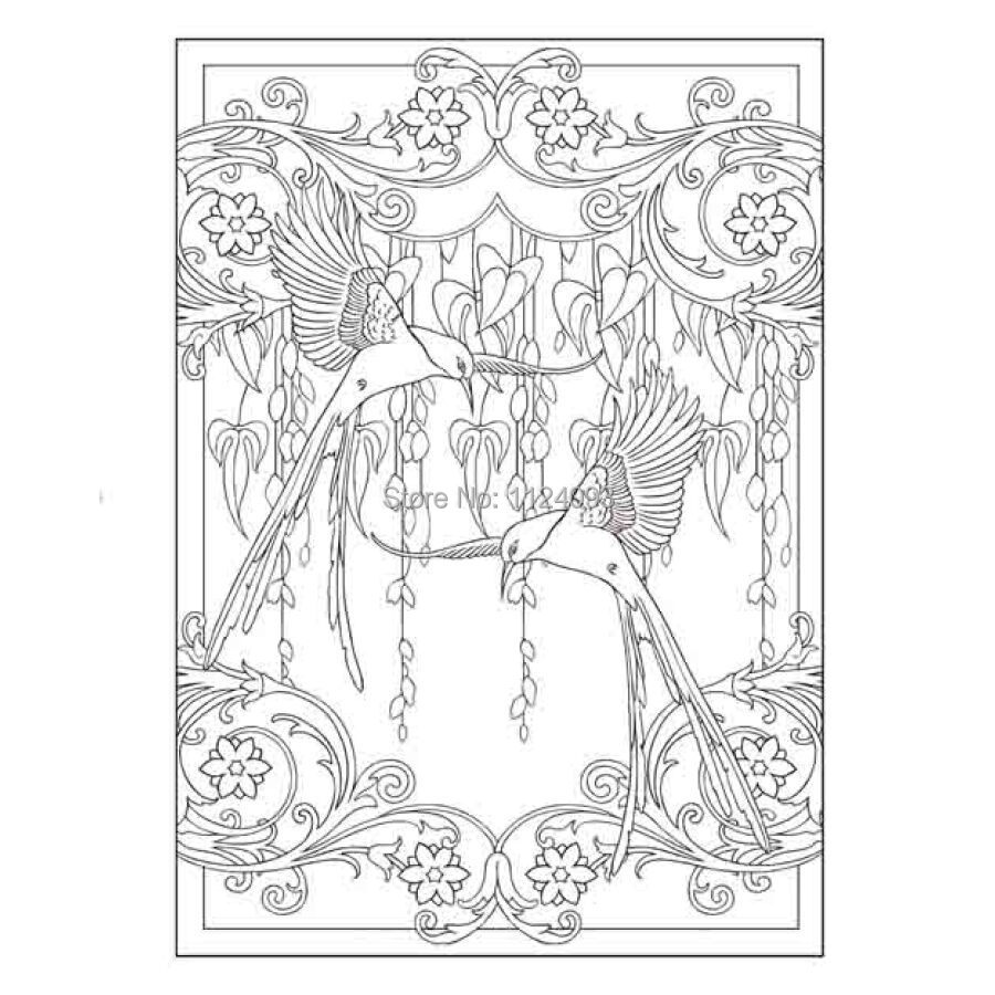 Booculchaha Art Nouveau Animal Designs Coloring Book Creative Haven Adult Anti Stress In Books From Office School Supplies On