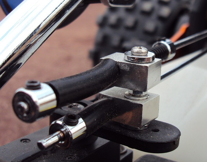 Upgrade Steel Rod Brake Throttle linkage Set fit 1//5 HPI Rovan Baja 5B 5T 5SC
