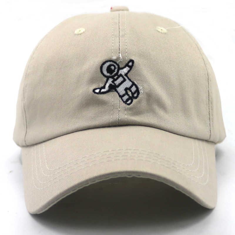 83e6da202 Unisex Fashion Dad Hat Astronauts Baseball Cap Spaceman Embroidery  Adjustable Cotton Snapback Hats Casual caps sports hat