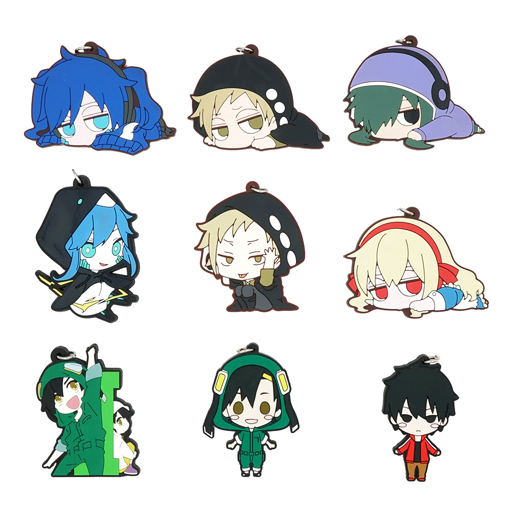 Mekakucity Actors Kagerou Project Anime Kido Seto Marry Ene Shintaro Hibiya Konoha Rubber Keychain