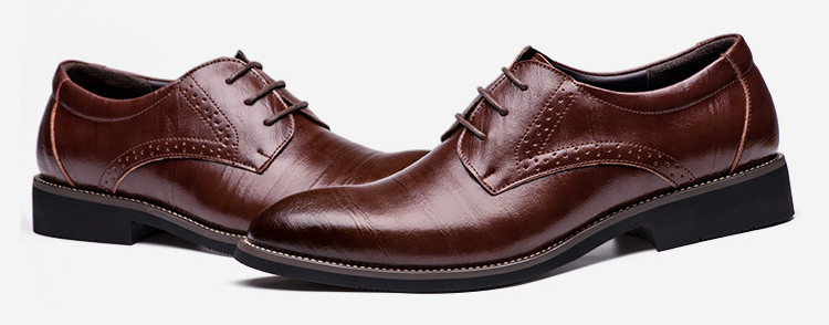 Merkmak Big Size 37-48 Oxfords Leather Men Shoes Fashion Casual Pointed Top Formal Business Male Wedding Dress Flats Wholesales 20