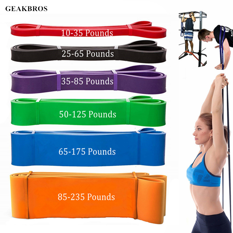 ad16575fd66 Fitness Resistance Bands Pull Up Rubber Rope Gym Equipment Expander Workout  Exercises Crossfit Resistance Strengthen Muscles ...