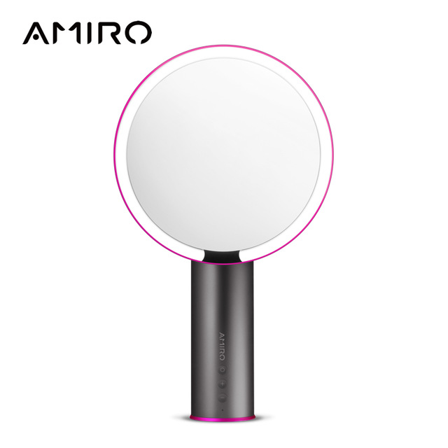 AMIRO 8 Inch LED Lighted Makeup Mirror w/ Rechargeable Battery, On/Off Smart Sensor, True Color Clarity System