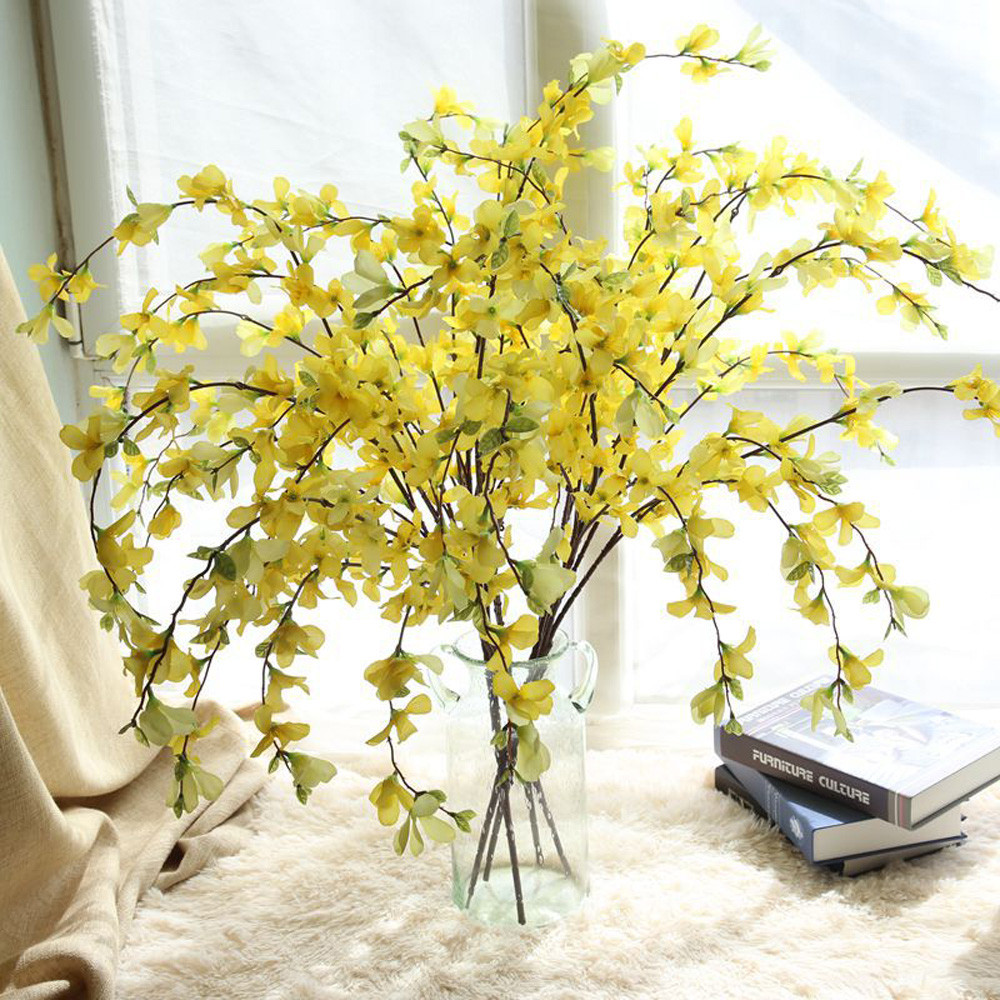 Online shop 2018 fashion yellow artificial winter jasmine leaves online shop 2018 fashion yellow artificial winter jasmine leaves silk flower party wedding home garden decor28 aliexpress mobile izmirmasajfo