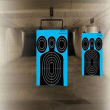 12 X 18 Sight In Splatter Reactive Gun Paper Shooting Targets - Bright florescent splatters make it easy to see your shot