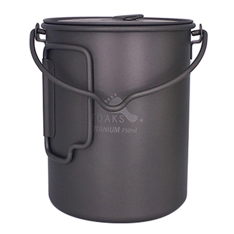 TOAKS titane extérieur Camping Pot Pots de cuisson pique-nique accrocher Pot ultra-léger en titane Pot 750 ml POT-750-BH