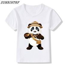 2c85019d8 2018 Donut Policji Panda Śmieszne Koszulki Dla Dzieci Lato Dla Dzieci  ŚLICZNE Dzieci Z Krótkim Rękawem T shirt Girls & Boys Zwie.