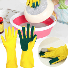 Sponge Fingers Kitchen Cleaning Gloves One Pair Reusable Household Garden Dishwashing Latex Washing Gloves Disposable Tools bonus gloves the one