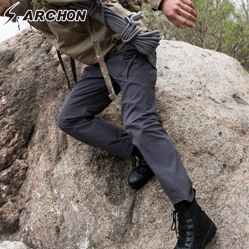 S ARCHON IX9 Tactical Style Pants Autumn Military Army SWAT Combat Cargo Pants Men Casual Quick Dry 3 colors Solid Trousers in Cargo Pants from Men 39 s Clothing