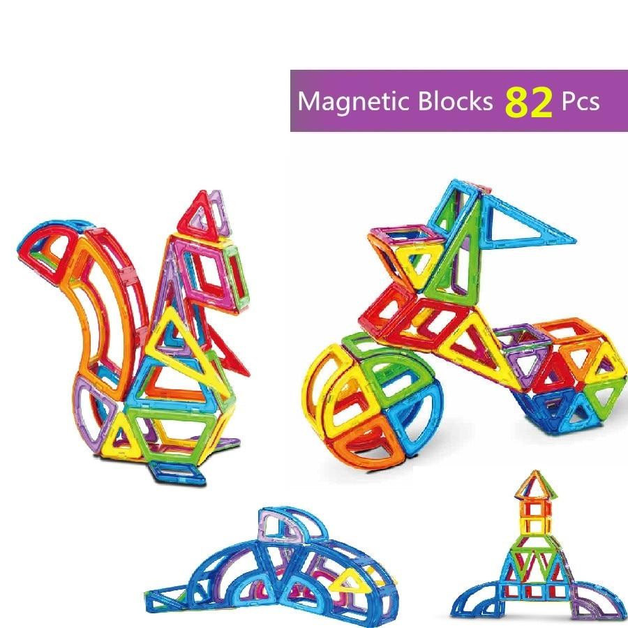 82Pcs 3D Funny Magnetic Toys DIY Magnetic Blocks Building Toys Education toy for Kids Building BlocksEducational Bricks Toys leadingstar 40pcs parent child magnetic building blocks set shape activities diy toys kids toys with wheel toys 702