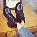 2016 de Otoño e invierno las botas Martin zapatos femeninos de algodón gruesa con botas cortas botas cortas del frasco