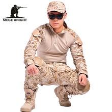 Тактический камуфляж военная одежда пейнтбол армия брюки-карго боевой брюки мультикам военная тактические брюки с наколенниками(China (Mainland))