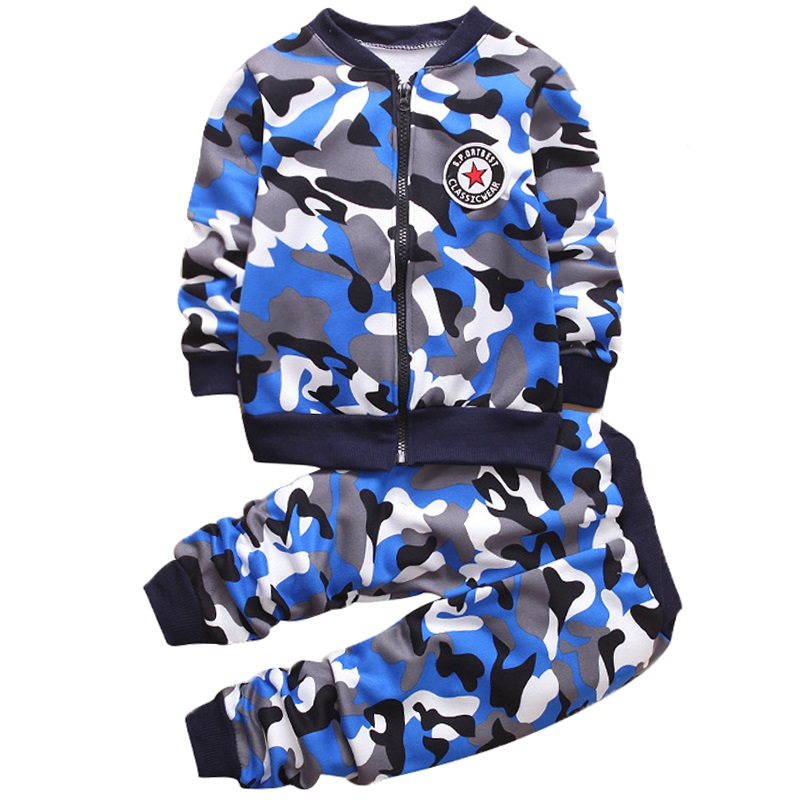 Boys Tracksuit 2017 Spring Children Clothing Sets Cotton Camouflage suit Sweater+Pants 2 Pcs Sport Suit Boy Clothes Set Costumes boys suit kids tracksuit clothing sets sport suit 100% cotton children s suit coat pants boys clothes kids clothing suit 2016