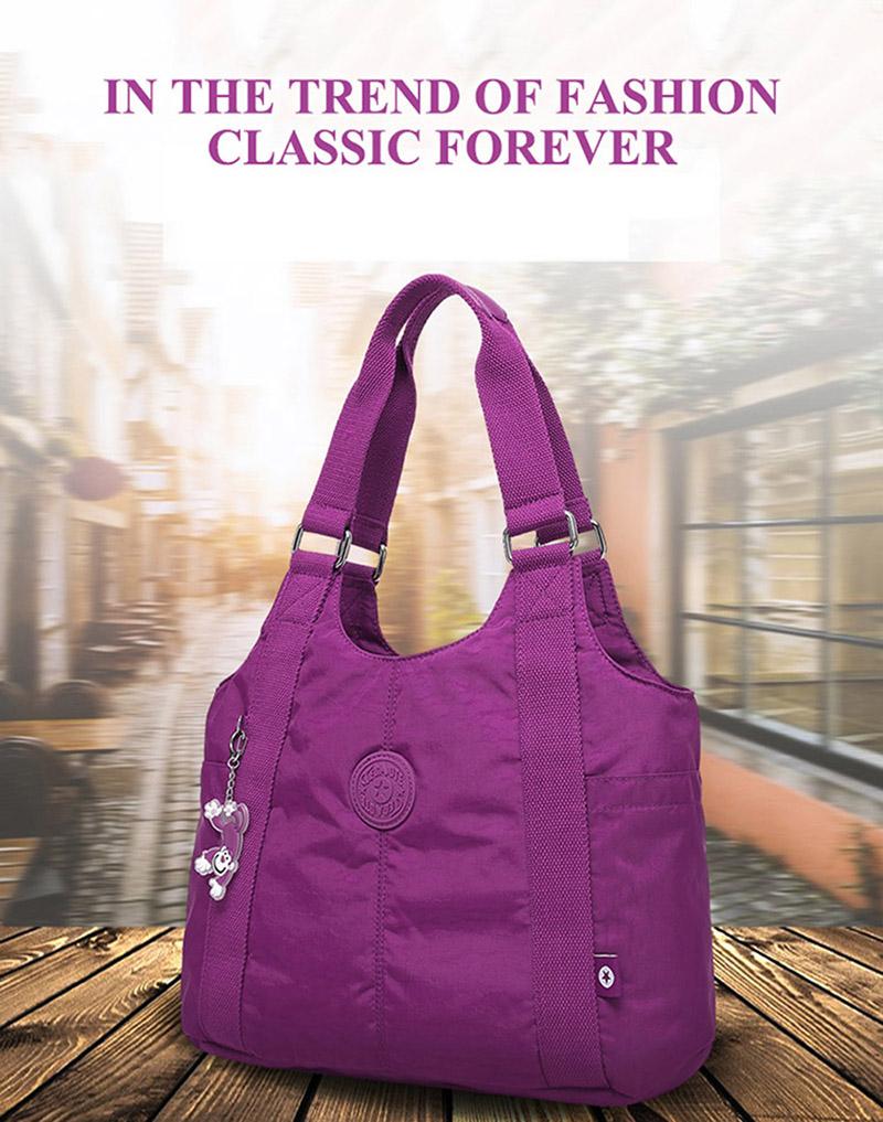 483487218ac9 TEGAOTE Women Top Handle Shoulder Bag Luxury Handbags Designer Nylon ...