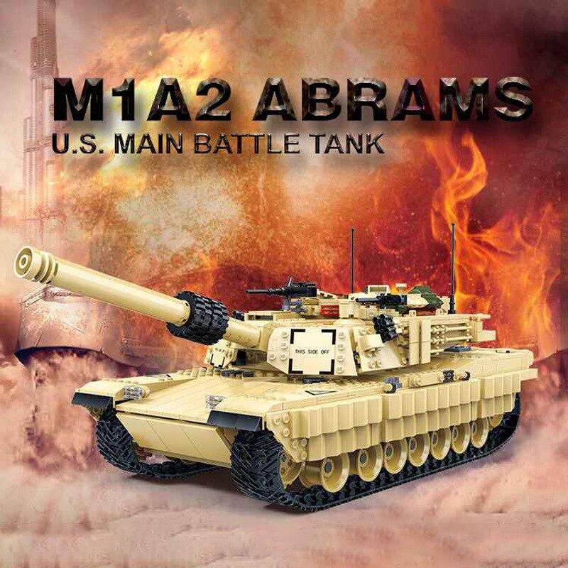 Gudi 6102 2155 pcs 군사 m1a2 전투 탱크 ww2 군인 abrams 육군 전쟁 빌딩 블록 레고와 호환 어린이 장난감-에서블록부터 완구 & 취미 의  그룹 1