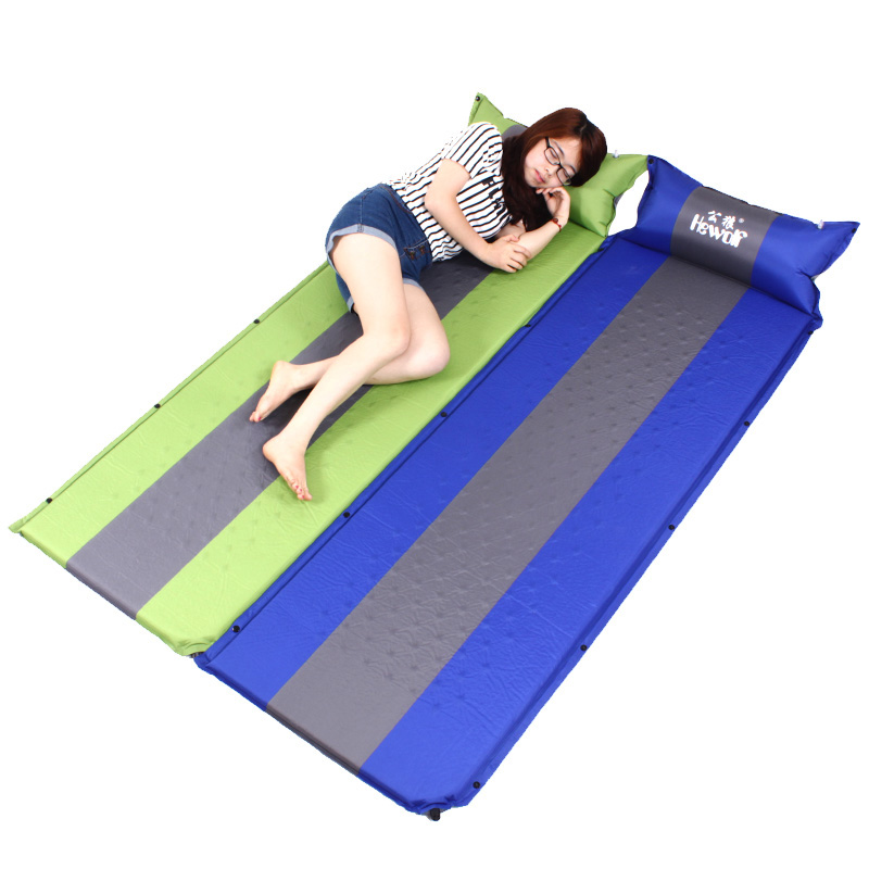 3 Color Outdoor Camping Travelling Automatic Inflatable Cushion Air Mattress With Pillow,Self-inflating Mat Car Sleeping Bed Pad creeper bl q001 convenient outdoor self inflation dampproof dacron air cushion mat camouflage