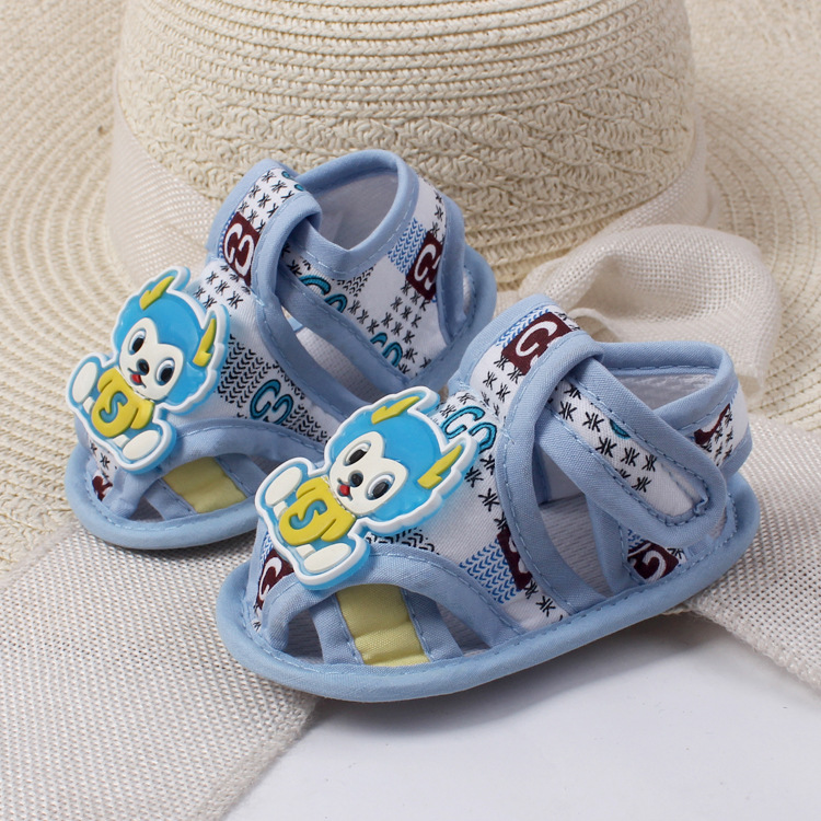 Amazing 3-12 Month Baby Boy Girls Crib Shoes Infant  Summer Baby Shoes Cartoon Breathable Baby Shoes Soft Sole First Walkers -01
