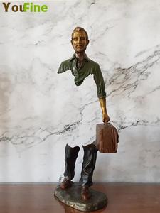Ornaments Sculpture Decoration Desktop Product-Sales Bronze Traveler Indoor Famous Bruno