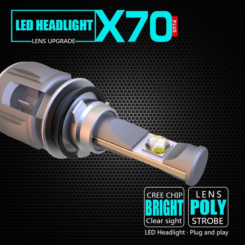 High Power CR-EE Chips H8 H9 H11 Car LED Headlight Bulbs Hi-Lo Beam 50W 4000lm/bulb 6000K 24V XP70 No Error 2018 atreus 1pair 9007 hb5 led car headlight 40w 4000lm bulb hi lo plug