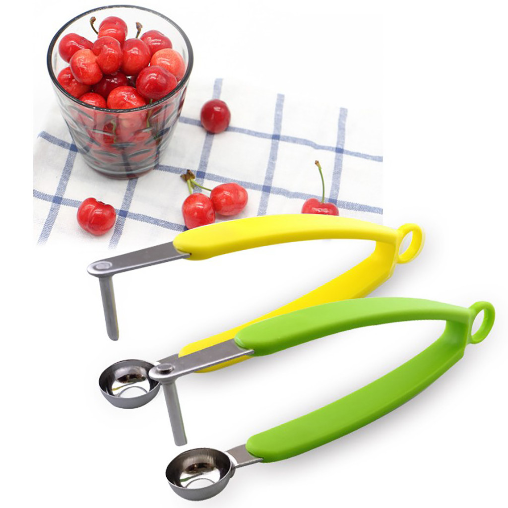Cherry Olive Pitter Corer Stoner Pits Seed Fruits Remover Squeeze Handheld Tool