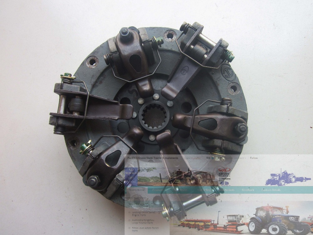 FT250.21B.011 clutch for Foton FT250 254 tractor, the dual stage type with PTO disc as assembly, 8 inch type ft250 21b 011 foton te250 ft254 tractor the 8 inches dual stage clutch with pto disc and release bearing
