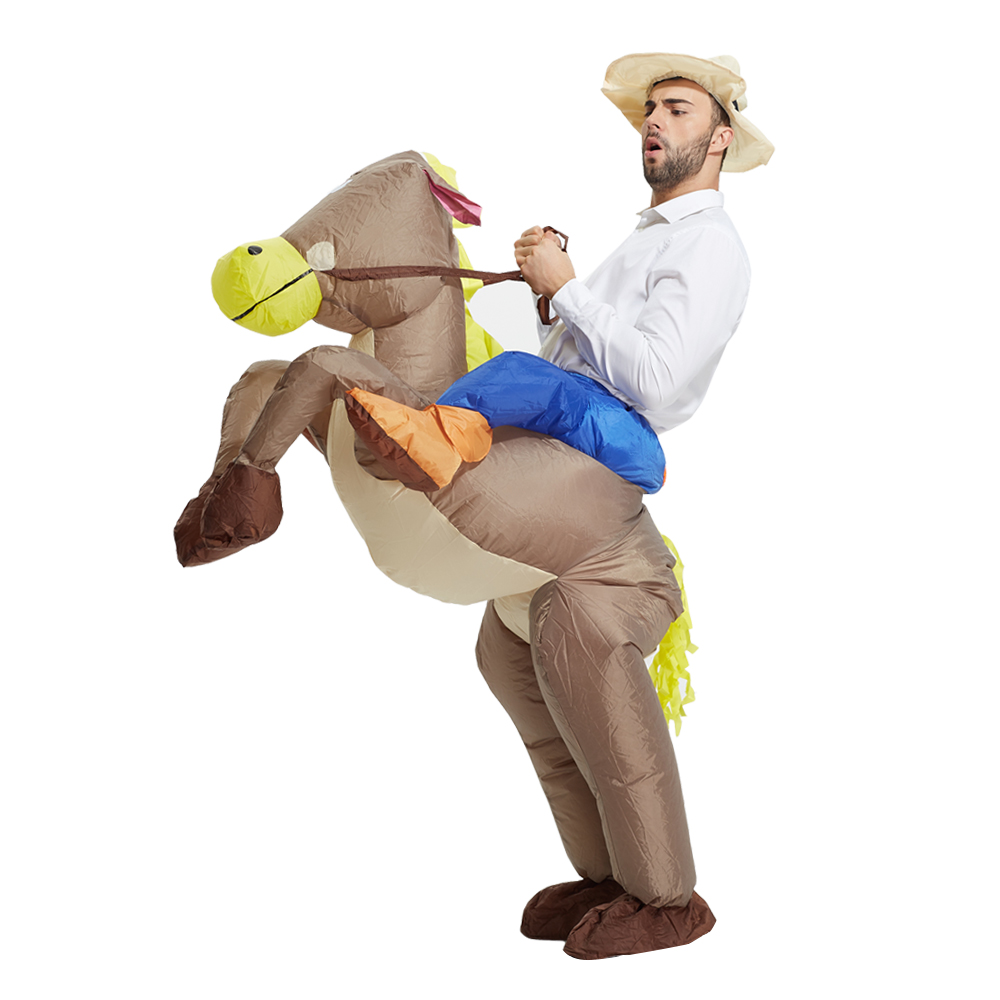 Brown Cowboy Horse Outfit Funny Inflatable Costume -6110