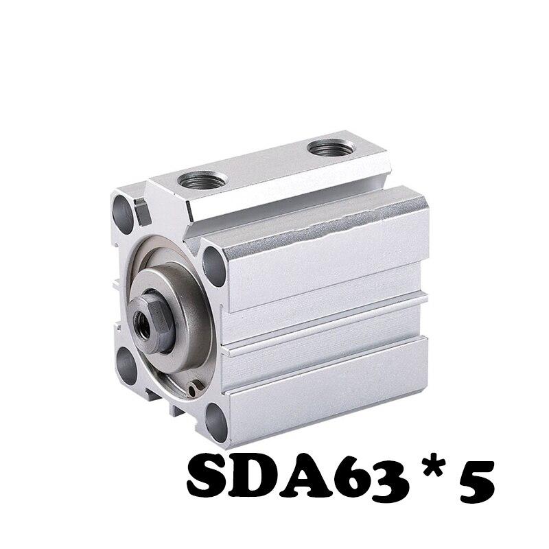 SDA63 *5 standard cylinder thin air cylinder SDA type 5mm stroke aluminum mini cylinder.SDA63 *5 standard cylinder thin air cylinder SDA type 5mm stroke aluminum mini cylinder.