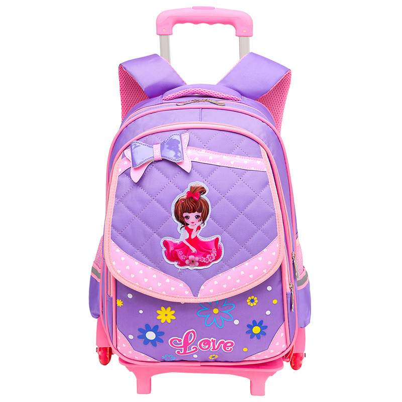 2018 Removable Children School Bags With 3 Wheels Stairs Kids girls Trolley Schoolbag Luggage Book Bags Wheeled school Backpack grades 4 9 kids trolley schoolbag book bags boys girls backpack waterproof removable children school bags with 3 wheels stairs